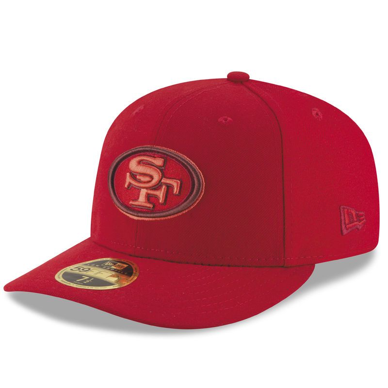 San Francisco 49ers New Era Total Team Tonal Low Profile 59FIFITY Fitted Hat  - Scarlet 23073da71