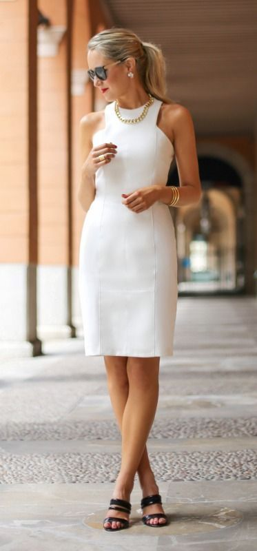 Vestidos de moda color blanco