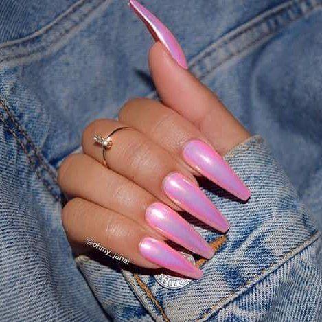 Pink, Elegant Nails