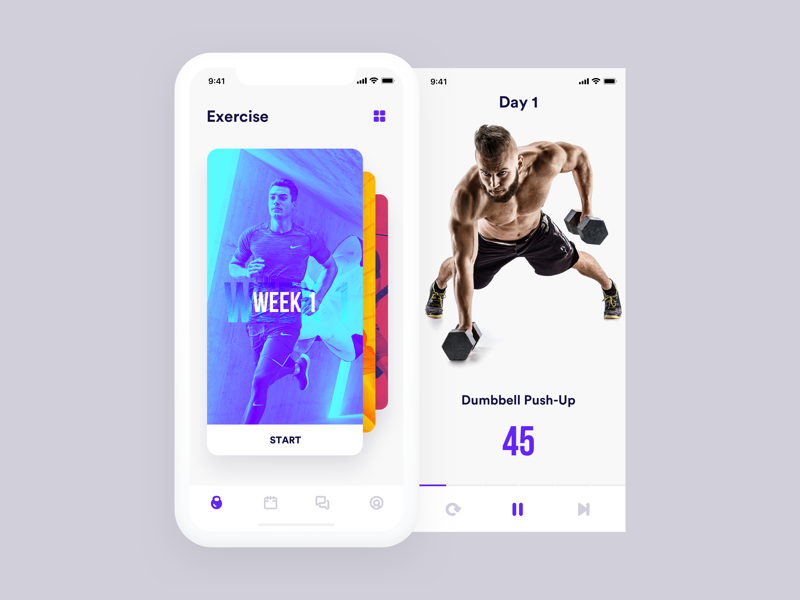 Fitness App Workout Apps Vintage Logo Design Fitness