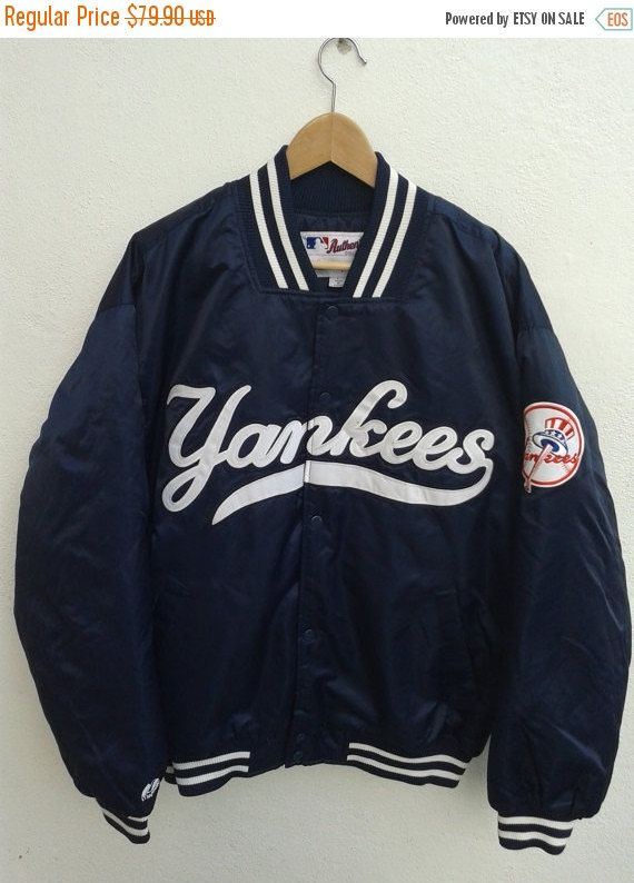 Vintage 90s New York Yankees By Majestic Athletic Embroidered Etsy Varsity Jacket Outfit Custom Varsity Jackets Jackets
