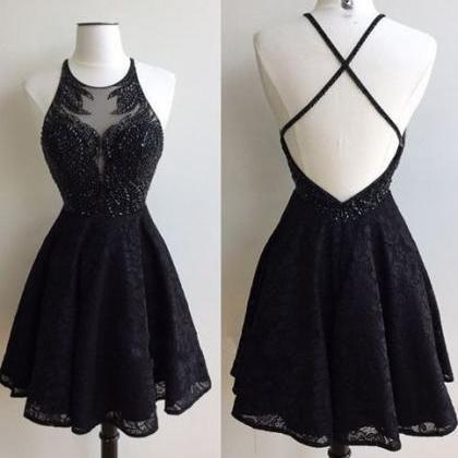 Teen Graduation Dresses Black Lace