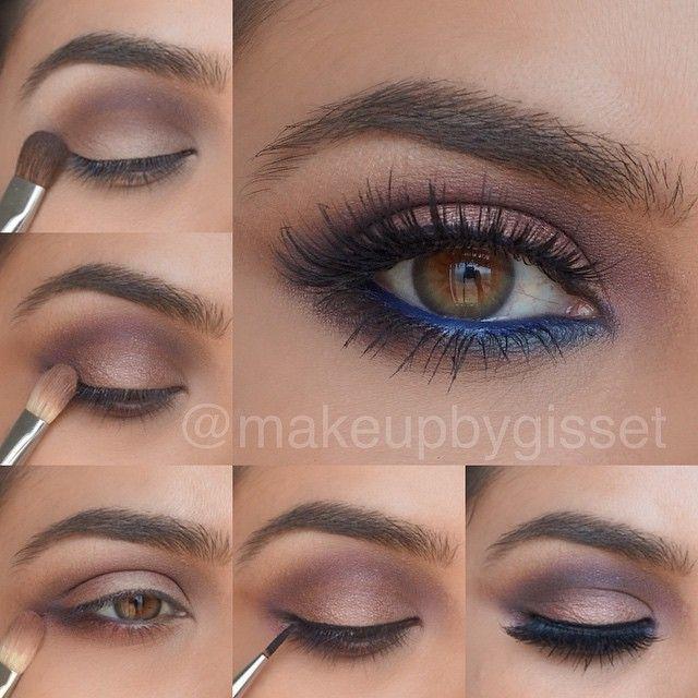 Hot blue eye line #makeup #tutorial #evatornadoblog #stepbystep #mycollection