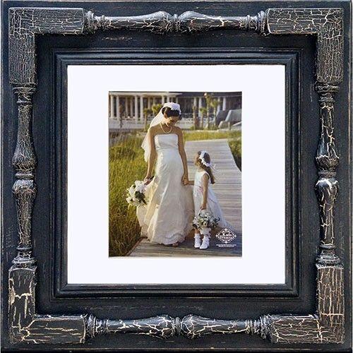 Spindle Frame (Black/Black Crackle - fits 10 x 10 in. photo), $169 ...