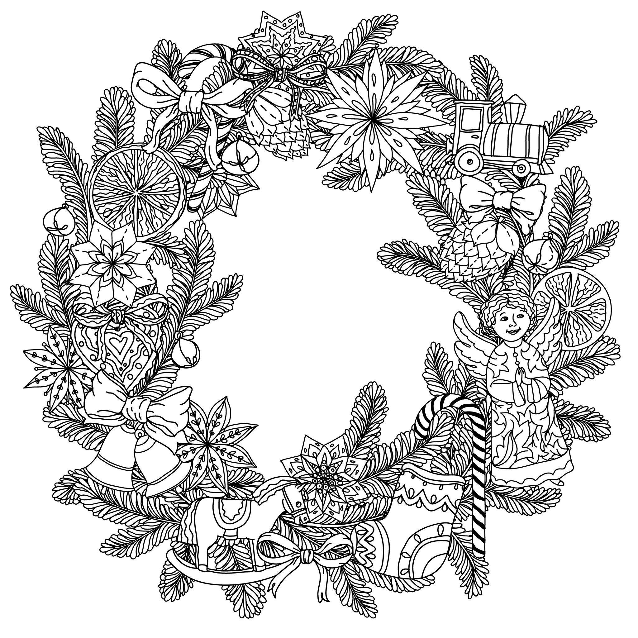 11 Luxe De Couronne De Noel Dessin Photos Mandala Noel Couronne De Noel Dessin Pages De Coloriage Chretien