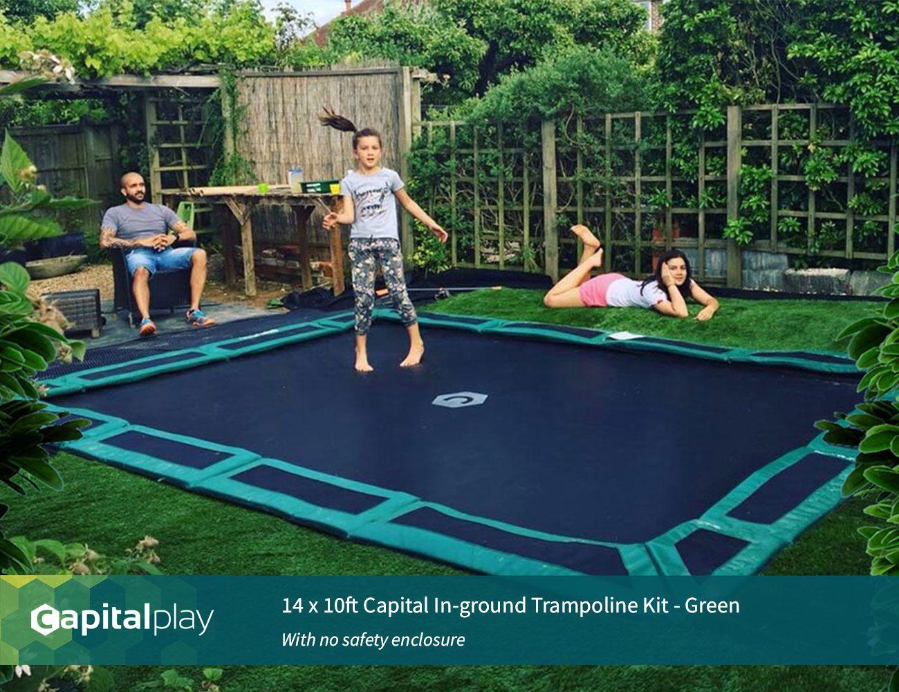14 X 10ft Capital In Ground Trampoline Kit Www Capitalplay Co Uk In Ground Trampoline Kits In Ground Trampoline In Ground Trampoline Kit Backyard Trampoline