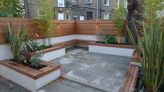 Latest gardens anewgarden decking paving design for Latest garden design ideas