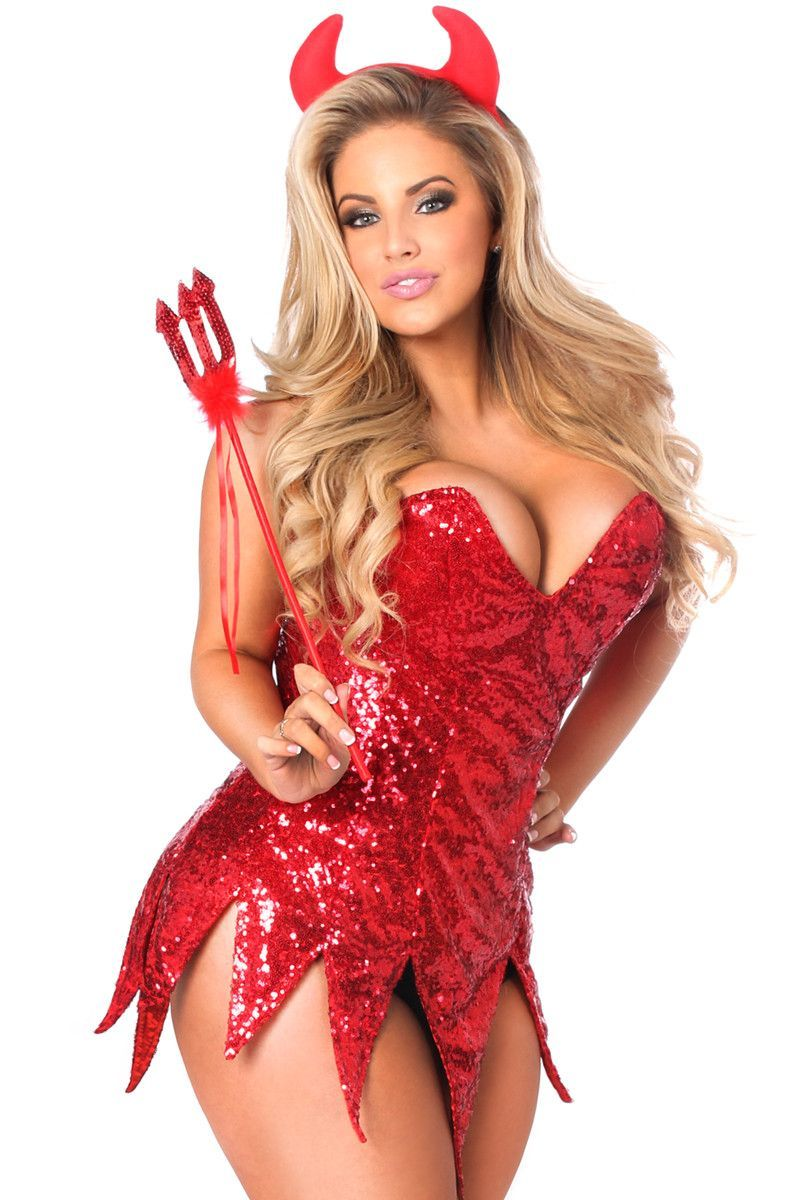 6a1ef5812 Daisy Corsets Top Drawer Red Sequin Devil Corset Dress Costume Free  Shipping On All Orders Over  79  DaisyCorsets  Costumes  unspokenfashion   fashion ...
