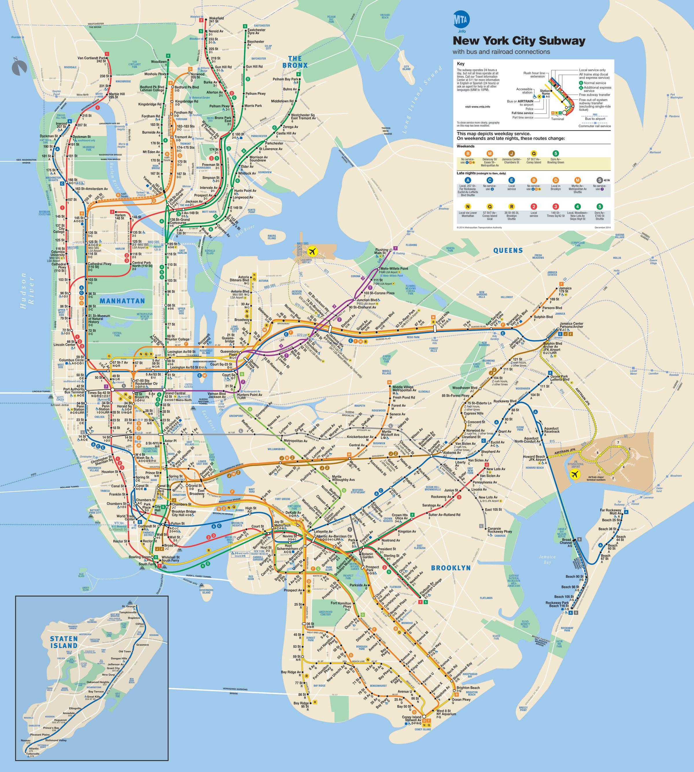 Subway Map Mta