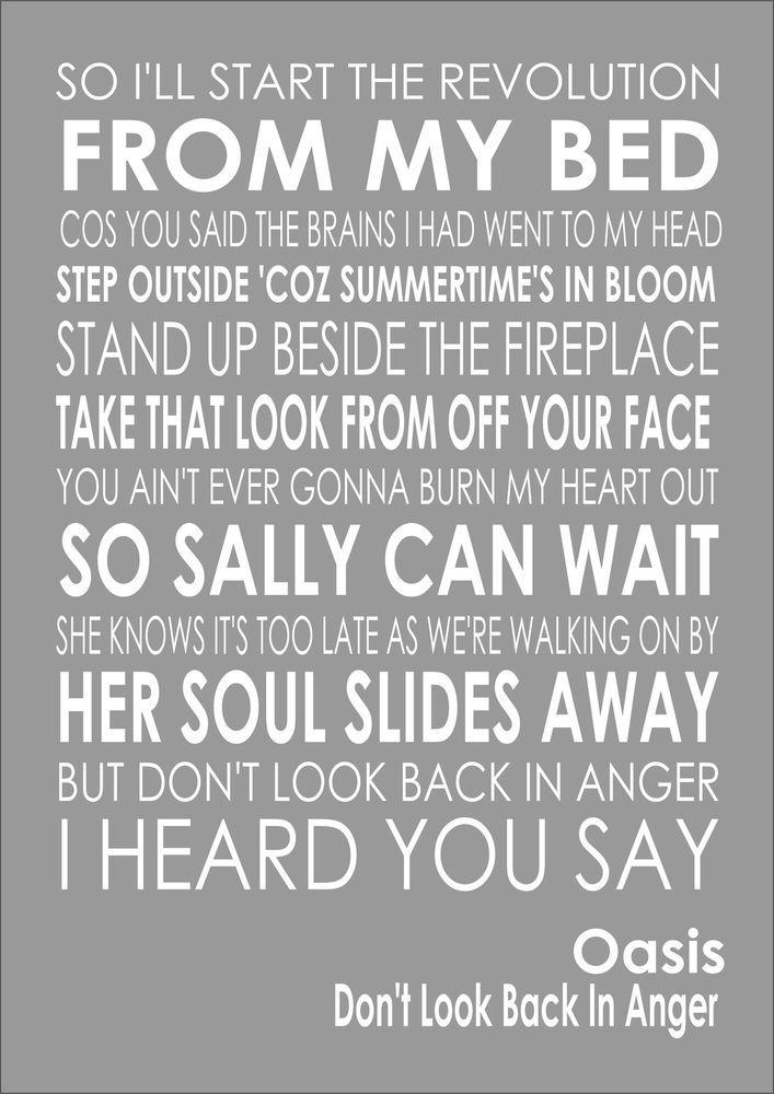 Lyric oasis lyrics masterplan : Stop Crying Your Heart Out - Oasis | lyrics | Pinterest | Oasis ...