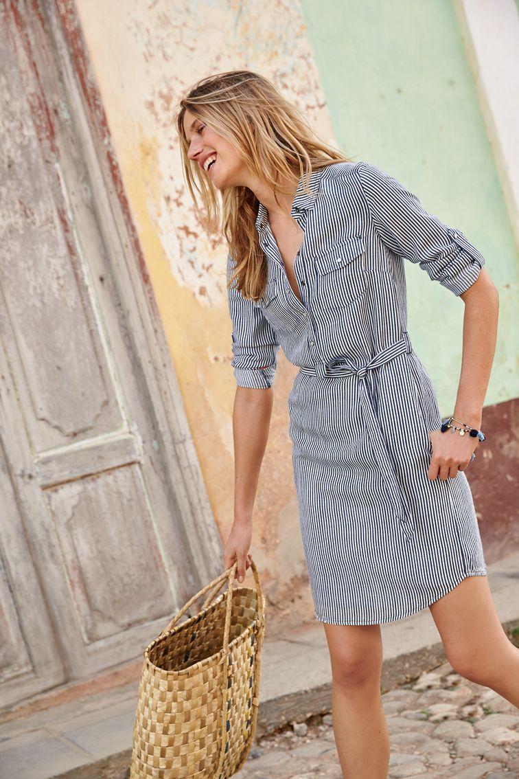 Popover Shirt Dress Summer Work Dresses Stitch Fix Outfits Fashion [ 1134 x 756 Pixel ]