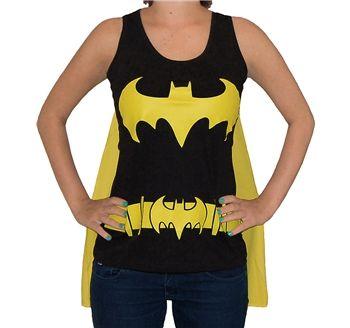Batman Shirts - Batgirl Logo Cape Junior Tank Top by Animation Shops