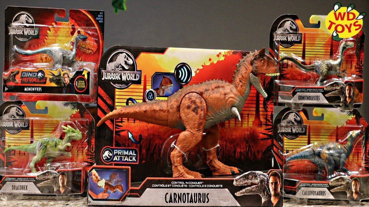 2020 Jurassic World Christmas Toys JURASSIC WORLD PRIMAL ATTACK DINOSAUR TOYS!! 5 Dino Toys Control N