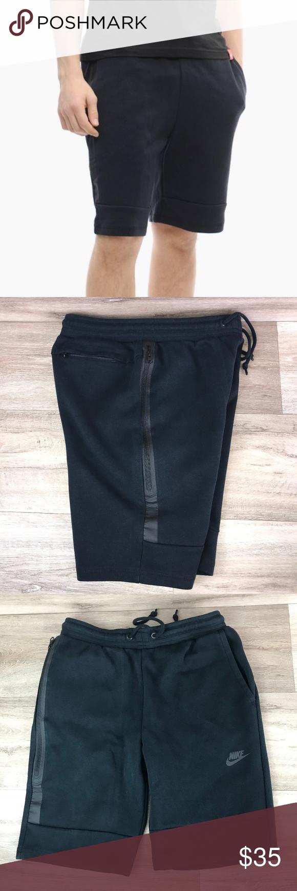 Nike Tech Fleece Shorts Black Mens Small Fleece shorts