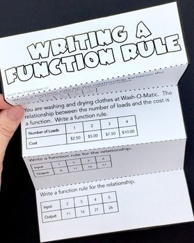 Writing A Function Rule Foldable With Images Middle School