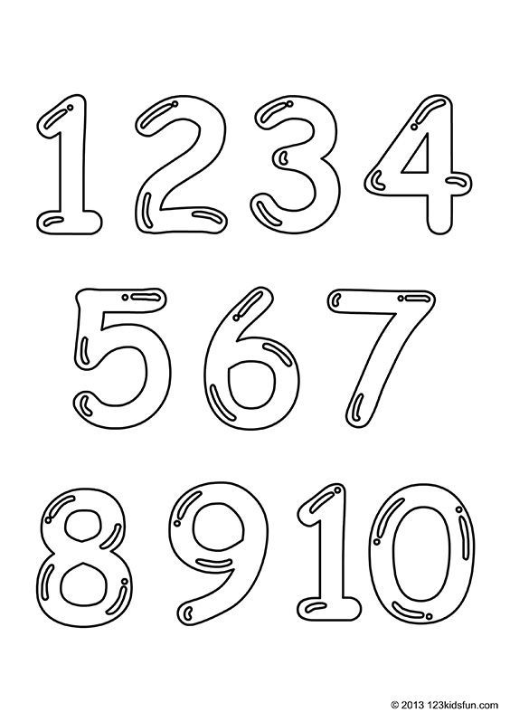 Free Printable Number Coloring Pages 1 10 For Kids 123 Kids Fun Apps