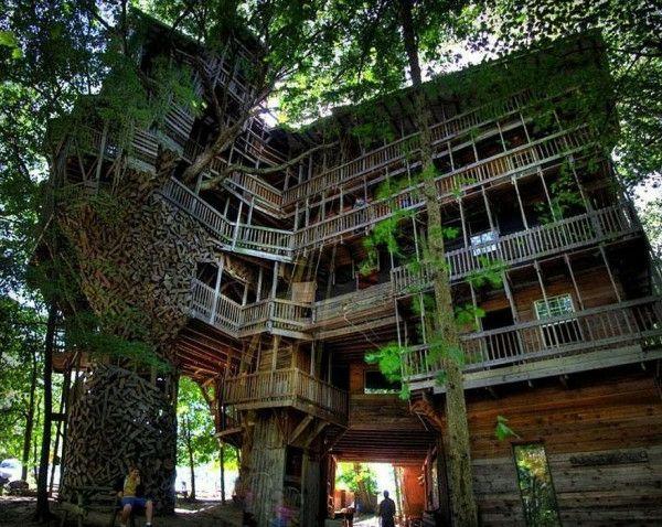 12 erstaunliche Baumhaus Ideen Baumhaus Haus bäume