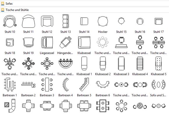 Symbole für Sitzordnung Sitzplan erstellen, Planer