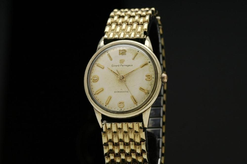 Vintage 10k Gold Filled Girard Perregaux Gyromatie Wristwatch Wrist Watch 10k Gold Girard Perregaux