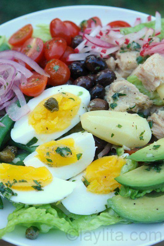 Ensalada nicoise francesa o ensalada nizarda las recetas for Ensalada francesa