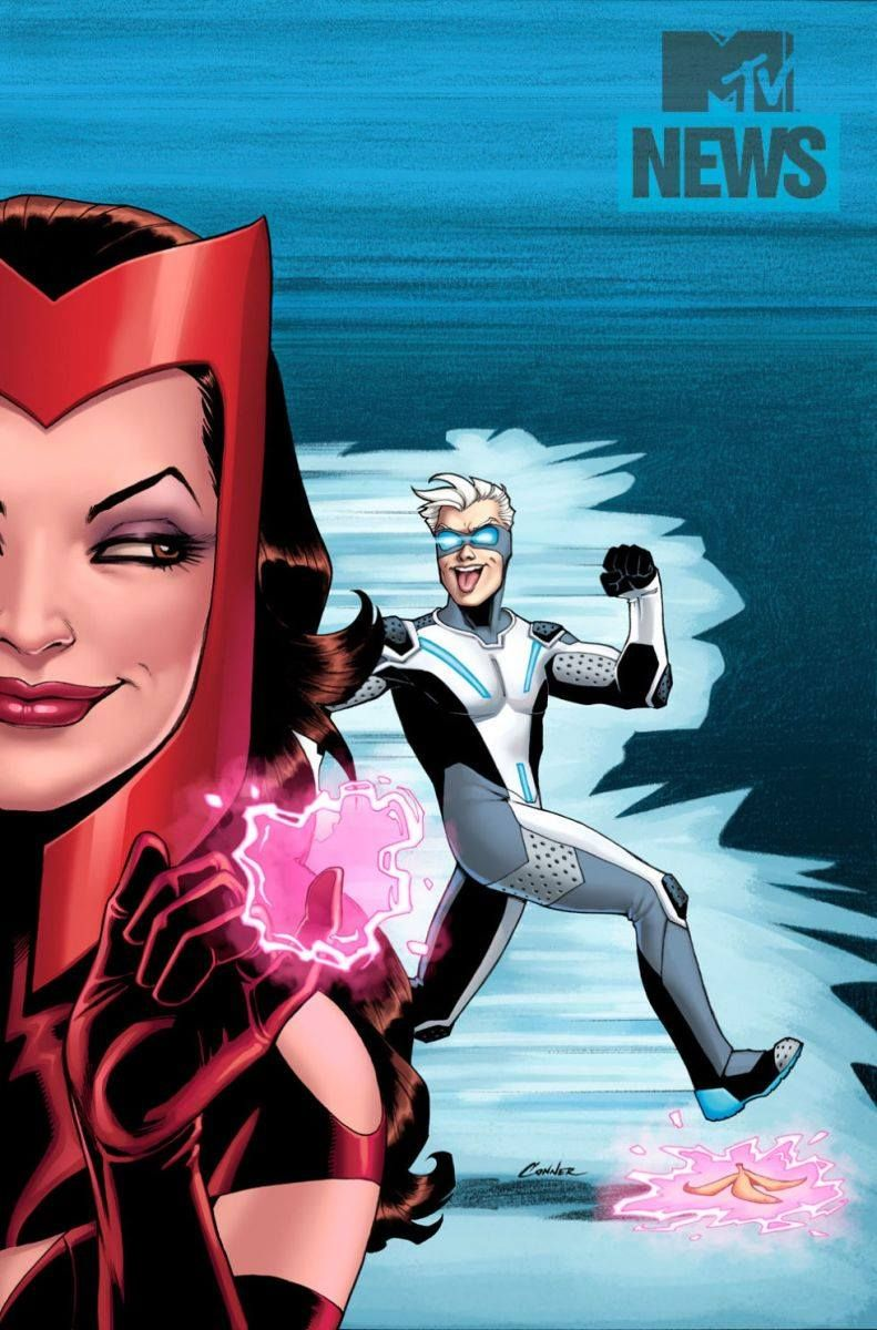 Uncanny Avengers 20   Scarlet Witch and Quick...   Art Vault ...