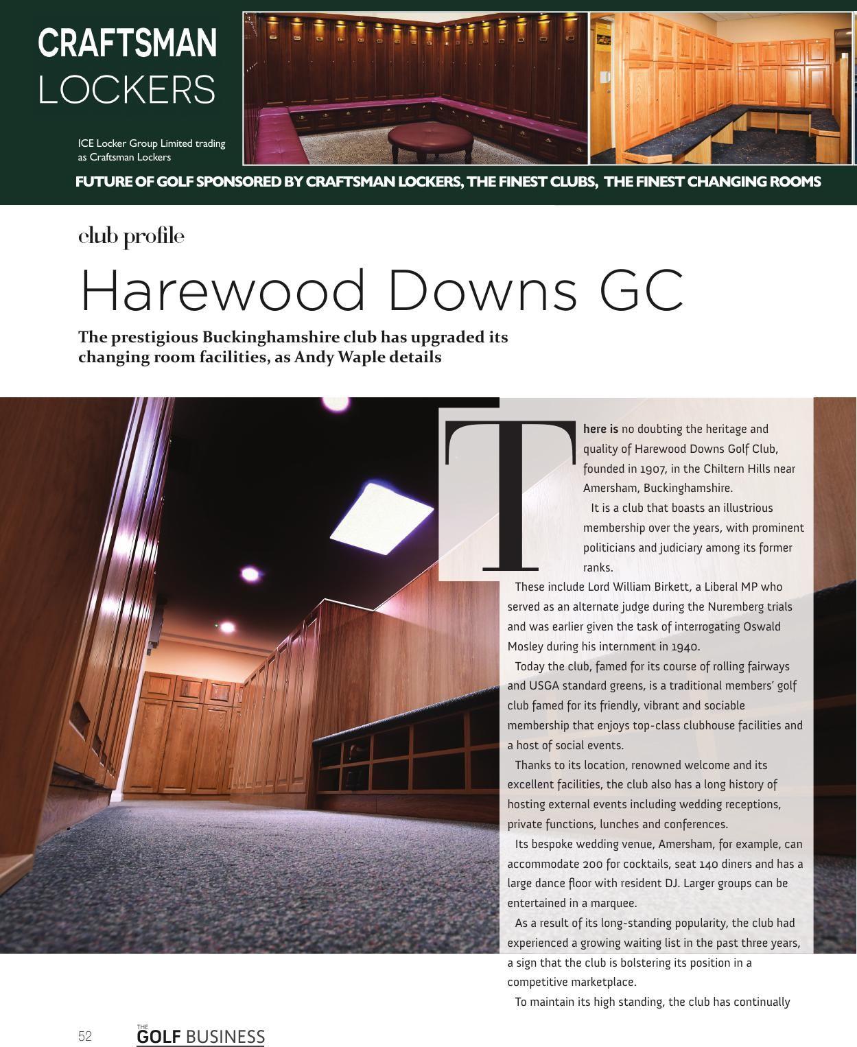 The golf business magazine november golf club lockers