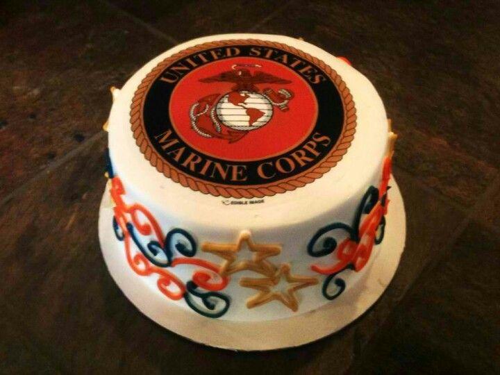 My Husbands Usmc Birthday Cake Happy Birthday Marines Food