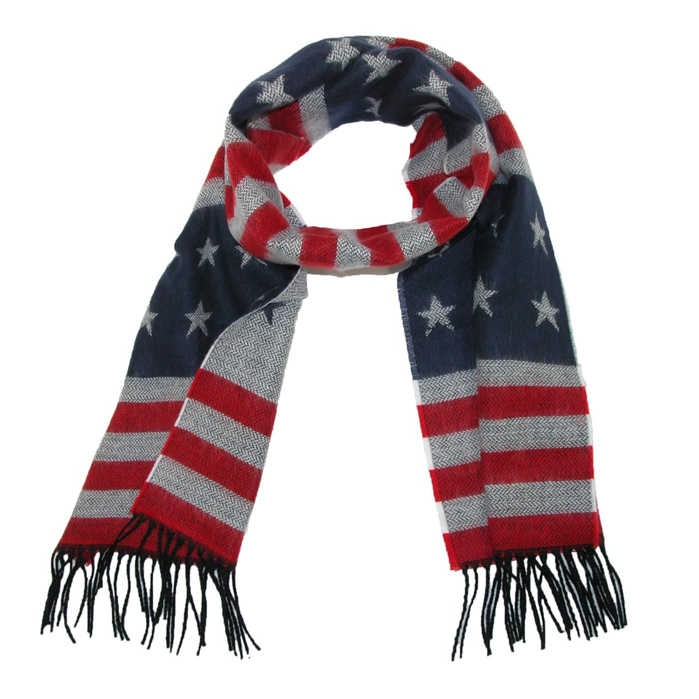 David Young Usa Flag Winter Scarf Winter Scarf American Flag Accessories Womens Scarves