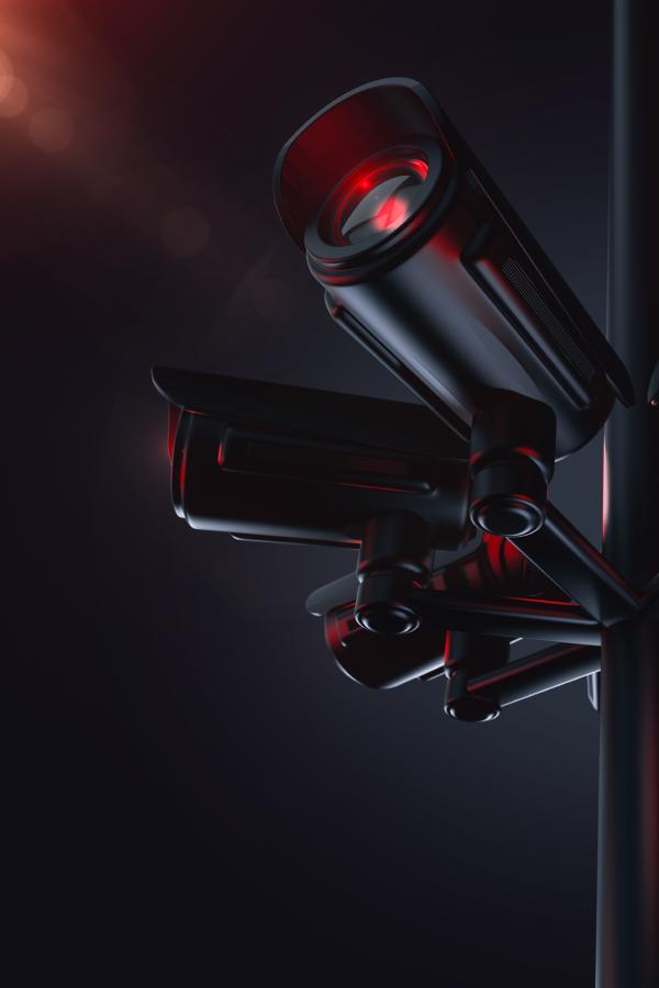 Pylon With Lots Of Cctv The Future Of Surveillance Cctv Camera Cctv Camera Installation Security Camera Installation