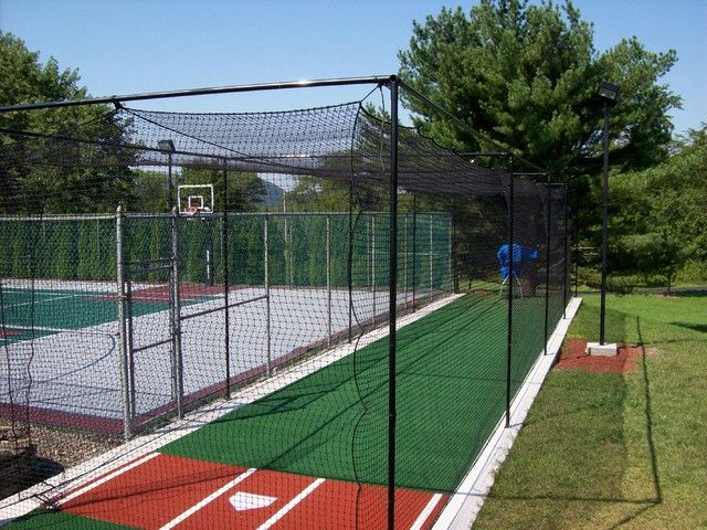 Backyard Batting Cages Home Gym Traditional With Backyard Batting Cages Sportcourt Batting Cage Backyard Backyard Sports Batting Cages