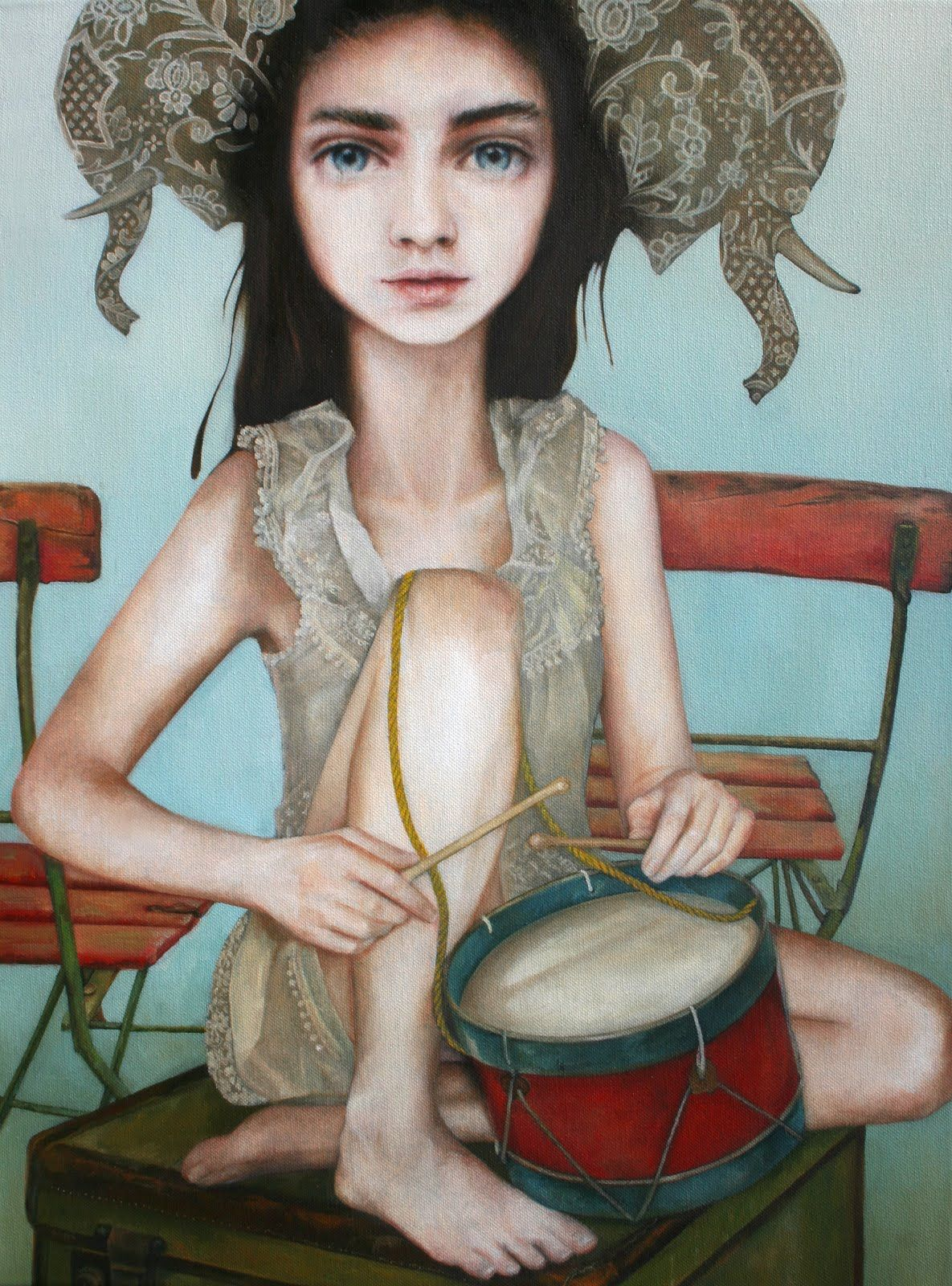 The Elephant March, by Nom Kinnear King. ArtisticMoods: posting on Facebook  Twitter.
