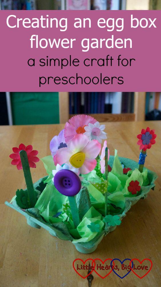 Creating An Egg Box Flower Garden A Simple Craft For