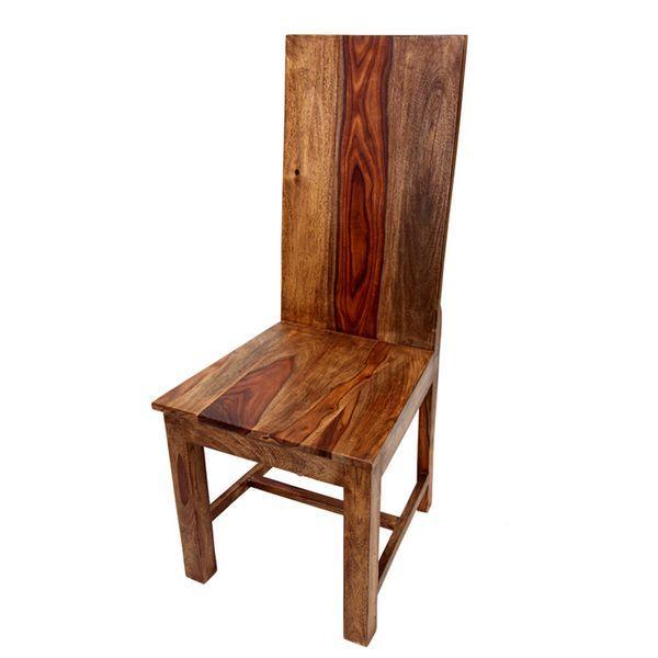 Silla madera rustica jabalpur http www for Sillas comedor rusticas