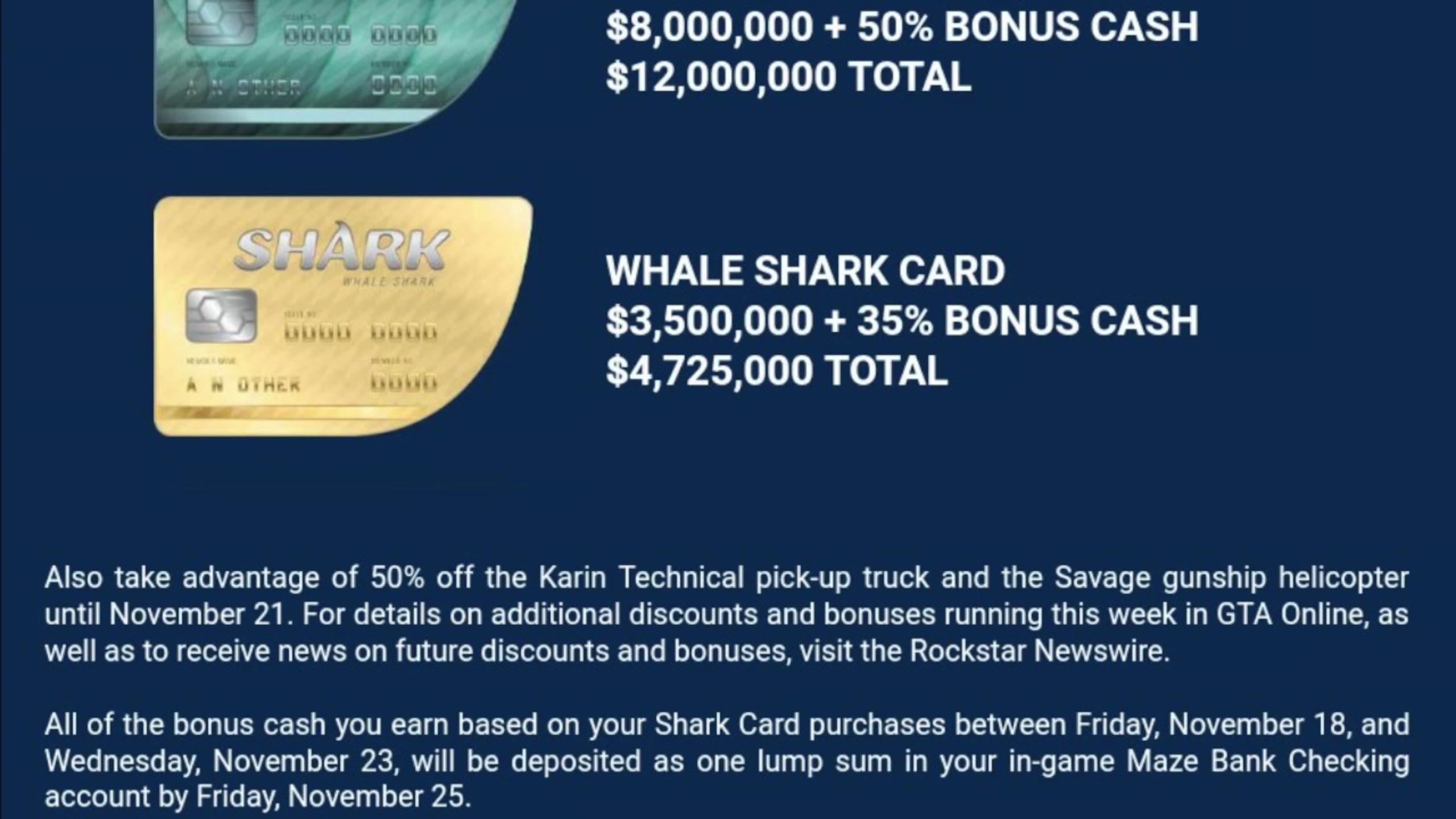 gta shark cards ps4 bonus