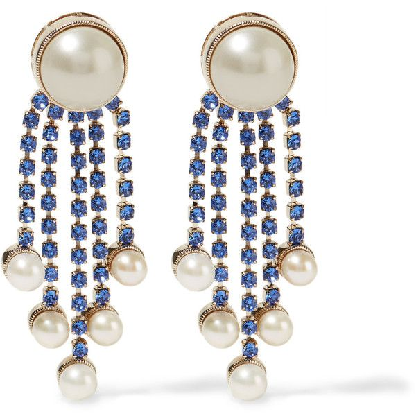 Crystal-embellished clip-on earrings Valentino rYHssxjLv3