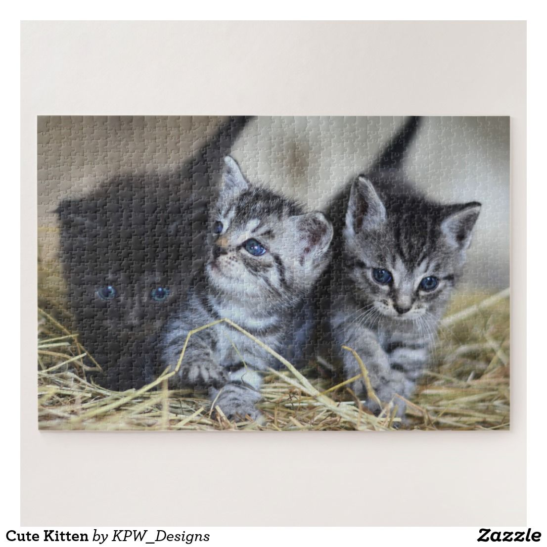 Cute Kitten Jigsaw Puzzle Zazzle Com Kittens Cutest Kitten Make Your Own Puzzle