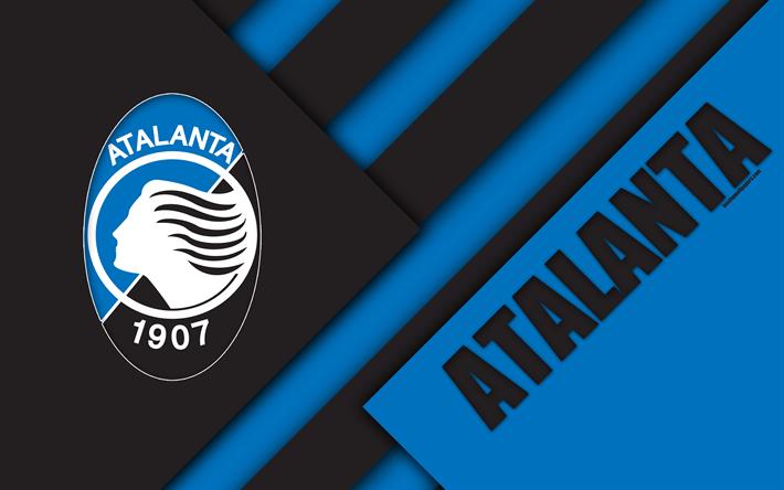 American Sports Material Wallpapers: Download Wallpapers Atalanta FC, Logo, 4k, Material Design