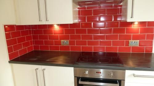 Cream Kitchen Tiles Red Kitchen - Inspirational Kitchen ...