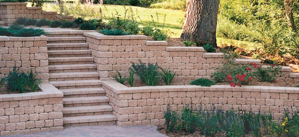 017 retaining wall tier w steps landscaping retaining on retaining wall blocks id=26178