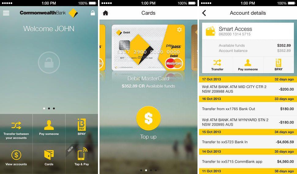 App, Commonwealth Bank