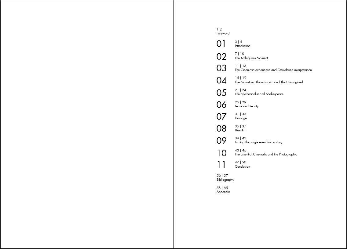 Bibliography / Appendix / Contents Contents design