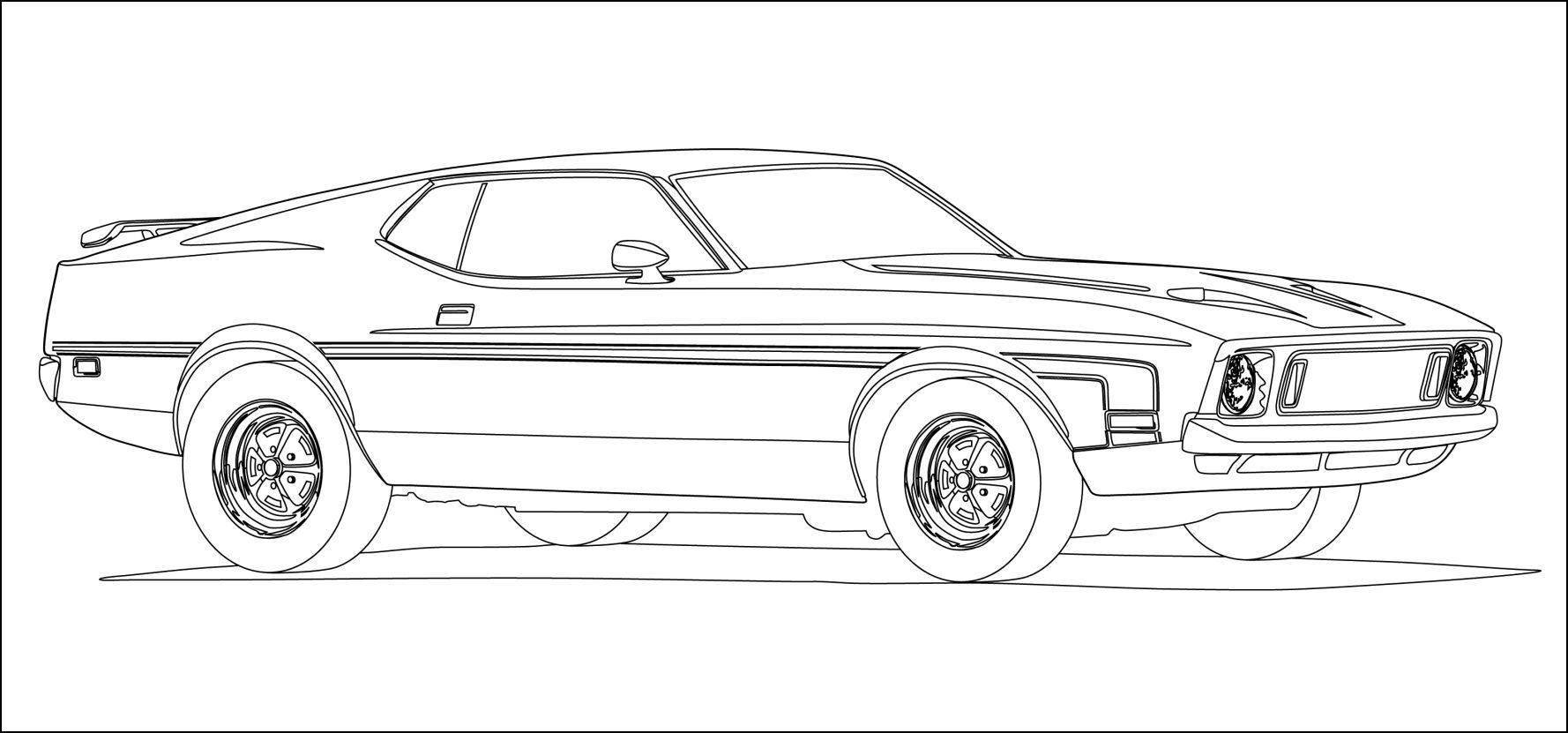 2011 Ford Mustang Coloring Pages 01 | Dibujos de autos | Pinterest ...