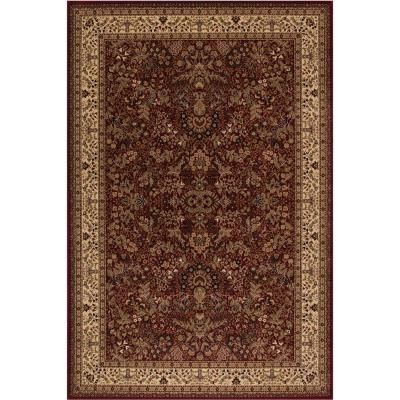 Concord Global Trading Persian Classic Sarouk Red Rectangle Indoor