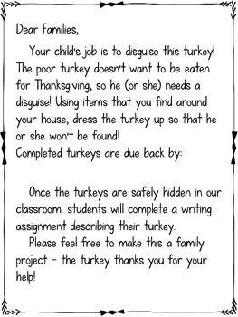Disguise a Turkey Project FREEBIE #disguiseaturkeyideas