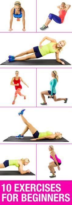 10 beginner workouts!  Style On Picture Healthy