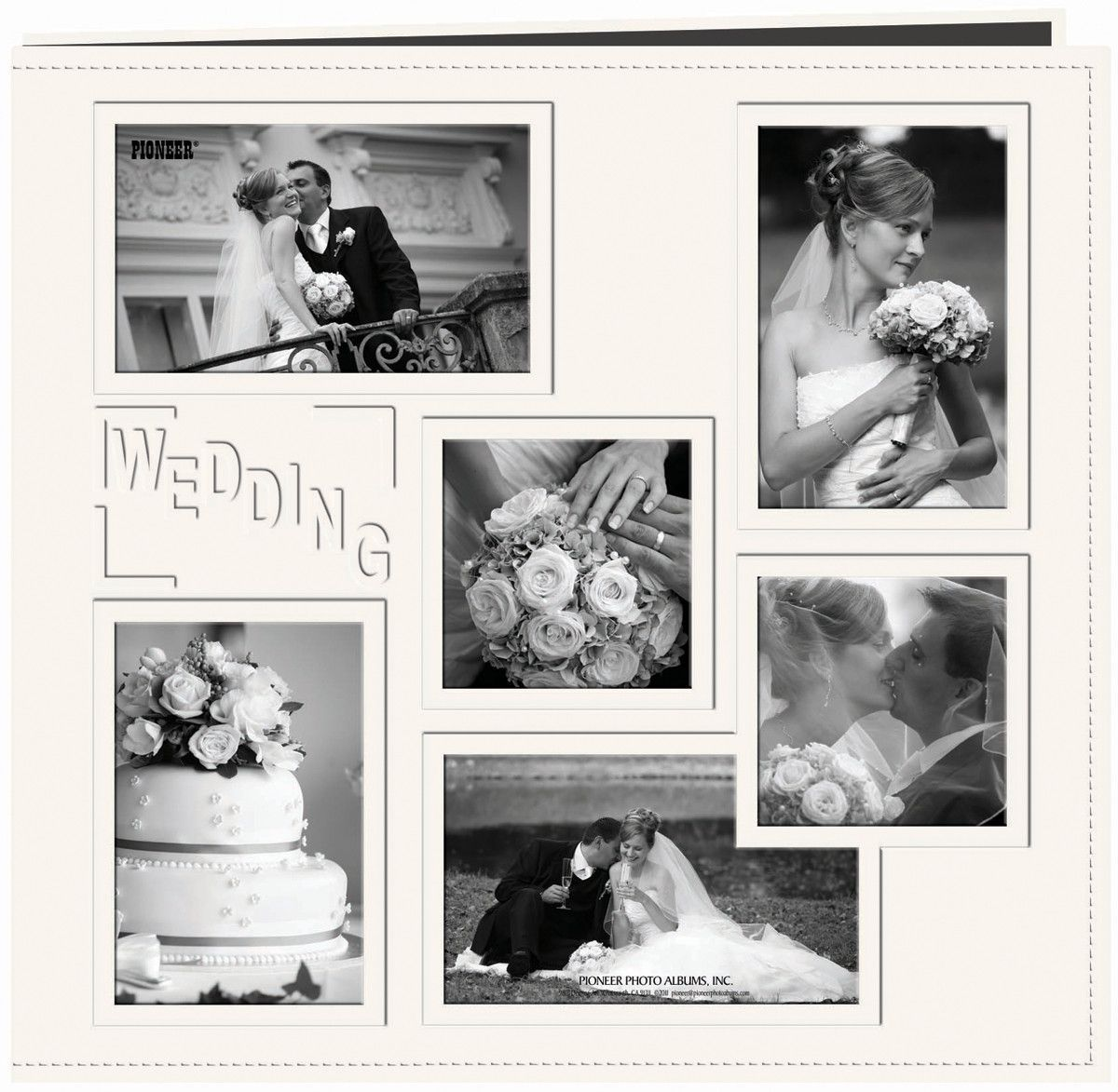 Pioneer Embossed Collage Frame Post Bound Album White Wedding ...