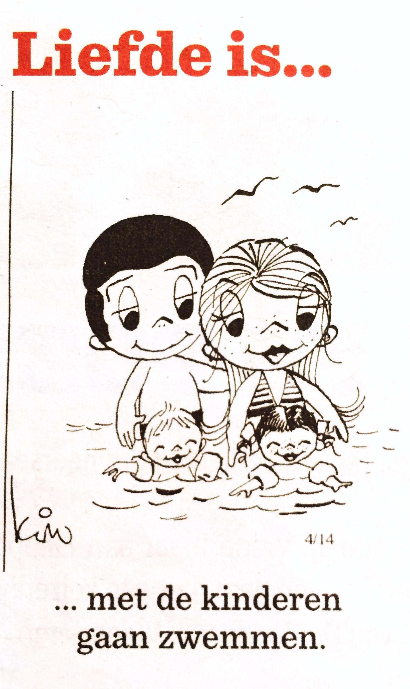 Liefde is... Met de kinderen gaan zwemmen