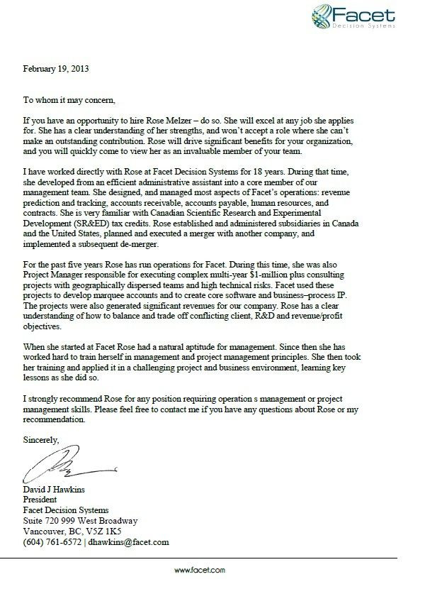 Facet Decision Systems Recommendation Examples Letter Of Recommendation Travel Inspiration