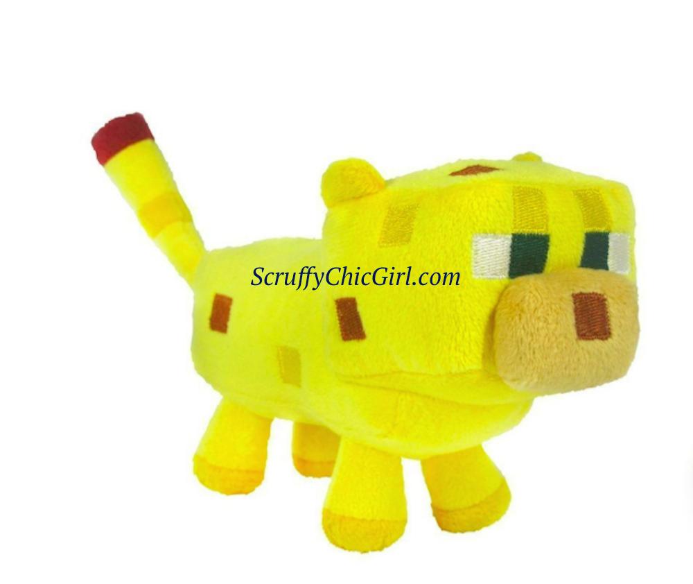 Adorable Minecraft Ocelot Plush Animal Kids Toy Kids