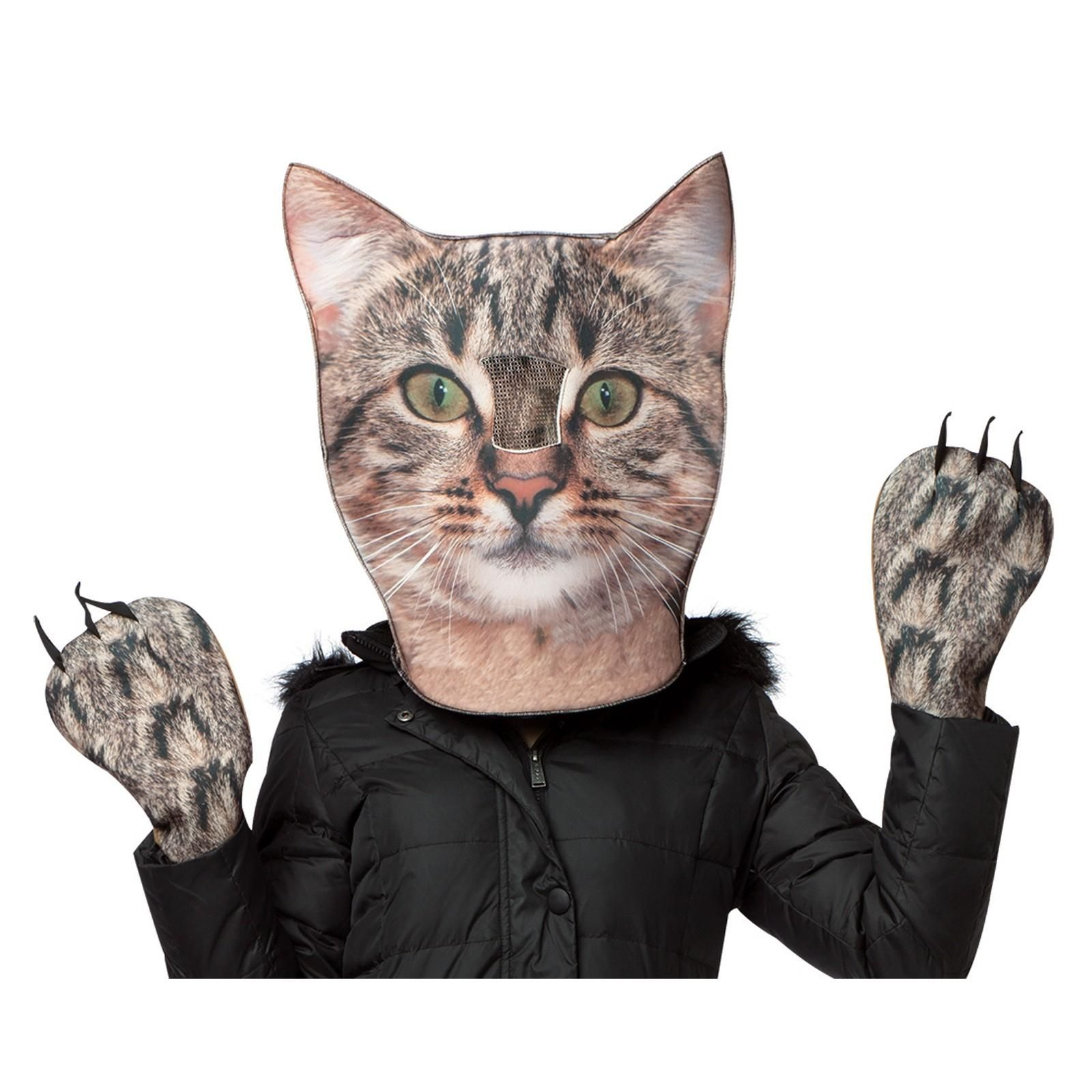 Buy Adult Cat Head u0026 Paws Costume (for ...  sc 1 st  Pinterest & Adult Cat Head u0026 Paws Costume